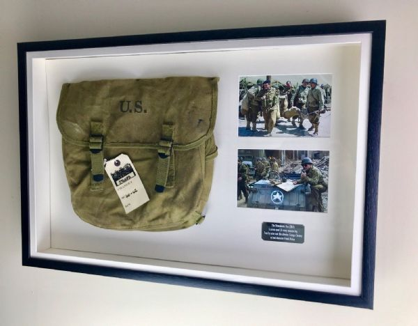 Movie Props - Original The Monuments Men Film / Musette Bag Used George Clooney